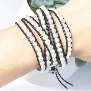 Victoria Emerson Wrap Bracelet Freshwater Pearl